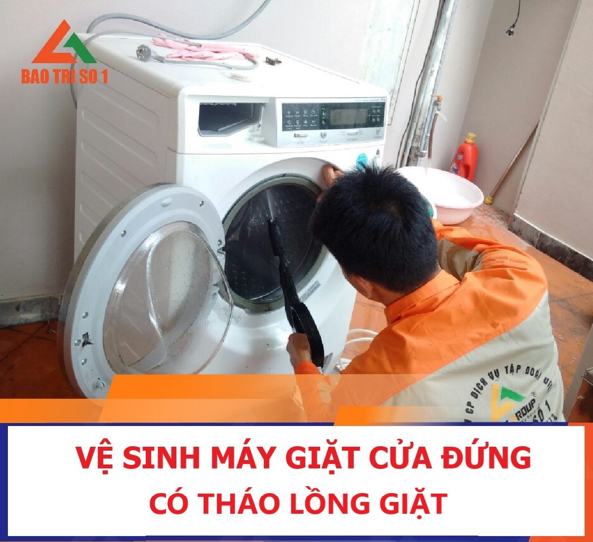Ve Sinh May Giat Cua Dung